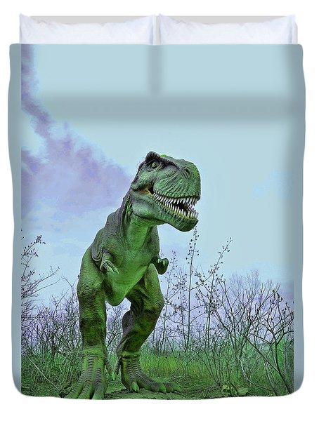 Tyrannosaurus Rex  T- Rex Duvet Cover by Allen Beatty