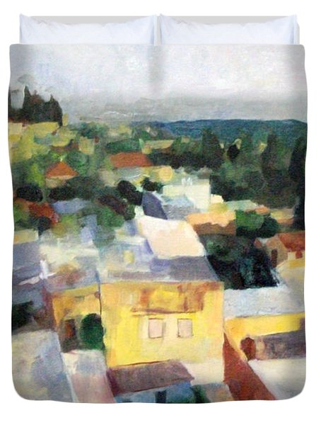 Tzfat Duvet Cover by David Baruch Wolk