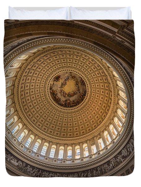 U S Capitol Rotunda Duvet Cover by Steve Gadomski