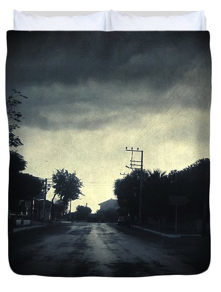 U-turn Duvet Cover by Taylan Apukovska