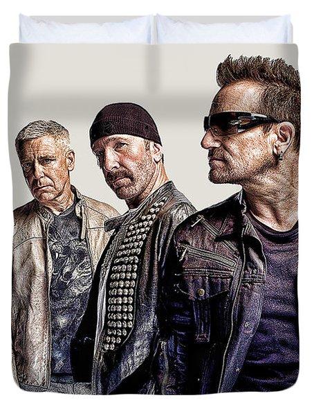 U2 Goup Duvet Cover by Riccardo Zullian