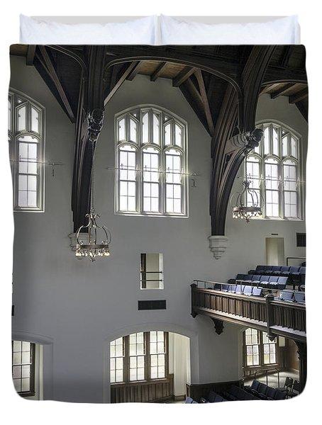 Uf University Auditorium Window And Balcony Detail Duvet Cover by Lynn Palmer