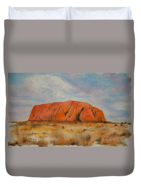 Uluru Duvet Cover by Lyndsey Hatchwell
