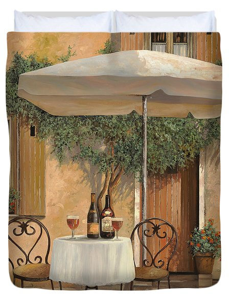 Un Altro Bicchiere Prima Di Pranzo Duvet Cover by Guido Borelli