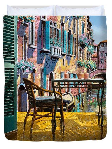 Un Soggiorno A Venezia Duvet Cover by Guido Borelli
