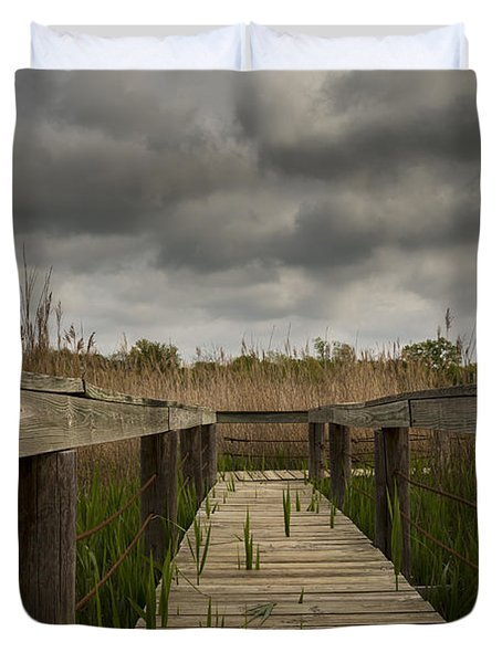 Under The Boardwalk Duvet Cover by Jonathan Davison