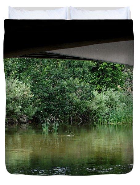 Under The Bridge Duvet Cover by Ernie Echols