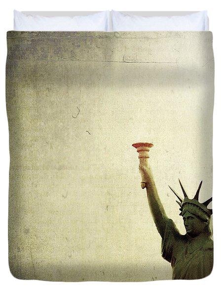 Understanding Liberty Duvet Cover by Trish Mistric