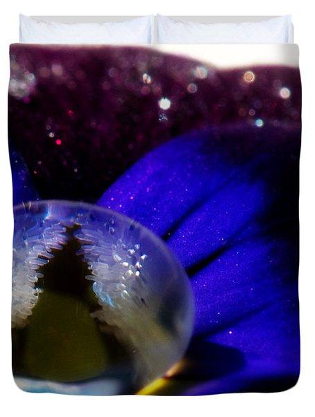 Underwater Universe Unfolding Duvet Cover by Lisa Knechtel