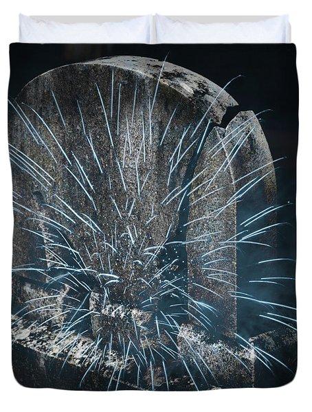 Underworld Encounter Duvet Cover by John Stephens