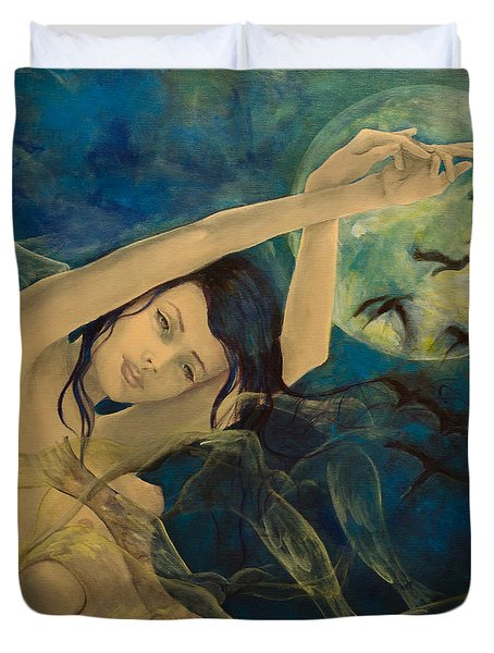 Unfinished Song Duvet Cover by Dorina  Costras