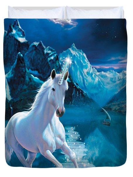 Unicorn Duvet Cover by Andrew Farley