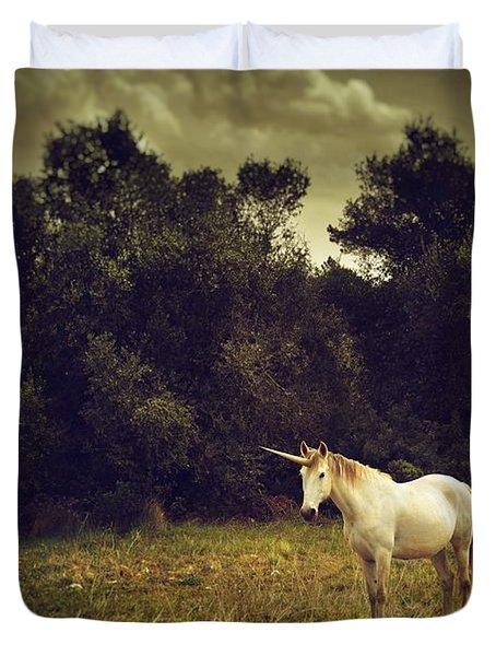Unicorn Duvet Cover by Carlos Caetano