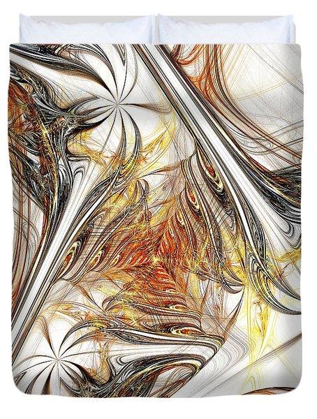Unicorn Path Duvet Cover by Anastasiya Malakhova