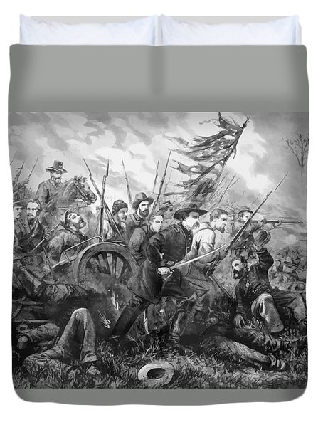 Union Charge At The Battle Of Gettysburg Duvet Cover by War Is Hell Store