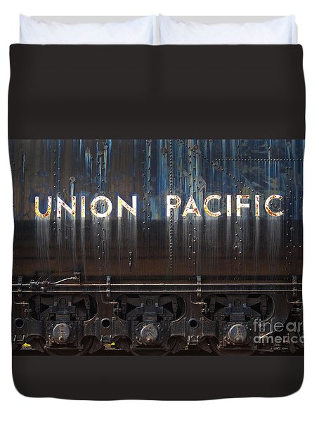 Union Pacific - Big Boy Tender Duvet Cover by Paul W Faust -  Impressions of Light