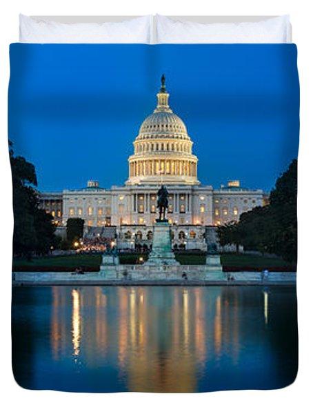 United States Capitol Duvet Cover by Steve Gadomski