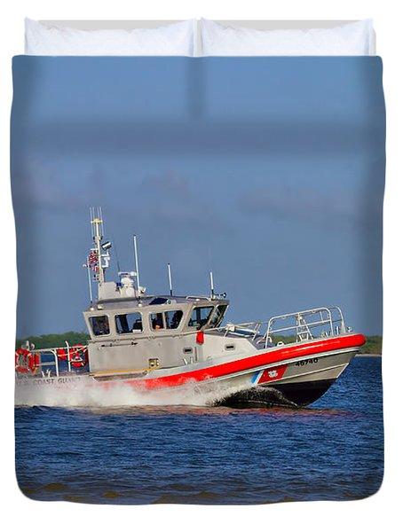 United States Coast Guard Duvet Cover by Kim Hojnacki