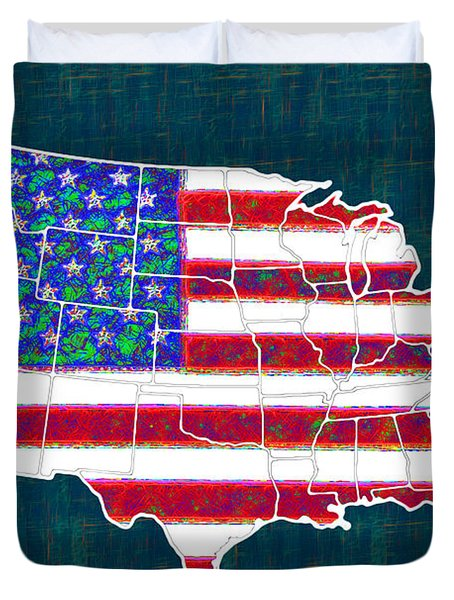 United States of America - 20130122 Duvet Cover by Wingsdomain Art and Photography