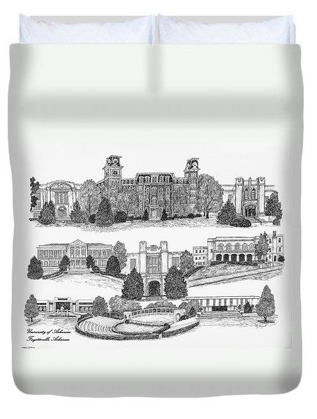 University Of Arkansas Fayetteville Duvet Cover by Liz  Bryant