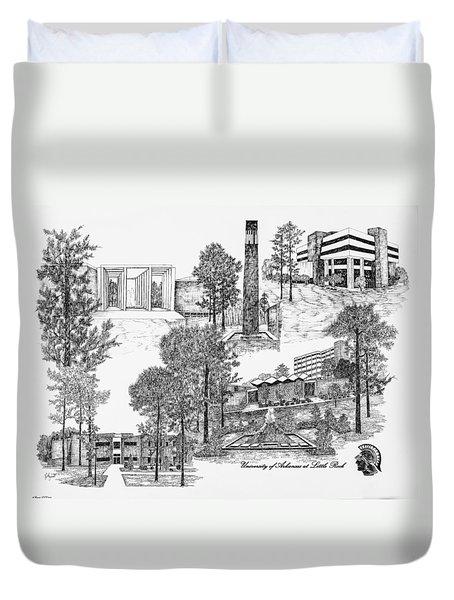 University Of Arkansas Duvet Cover by Liz  Bryant