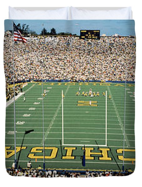 University Of Michigan Stadium, Ann Duvet Cover by Panoramic Images