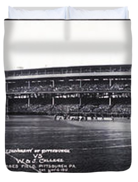 University Of Pittsburgh Vs W And J College Forbes Field Pittsburgh Pa 1915 Duvet Cover by Bill Cannon