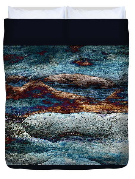 Untamed Sea 2 Duvet Cover by Carol Cavalaris