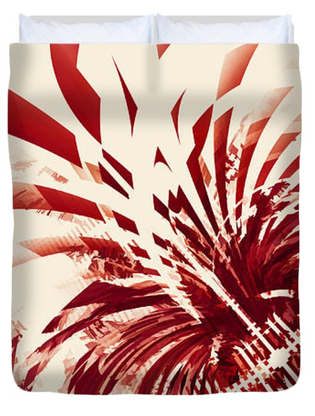 Untitled Red Duvet Cover by Scott Norris