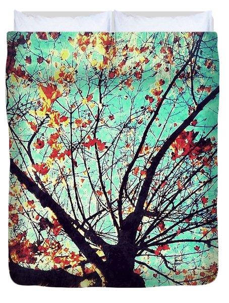 Untitled Tree Web Duvet Cover by Juliann Sweet