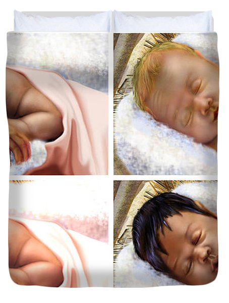 Unto The World A King Is Borne Duvet Cover by Reggie Duffie