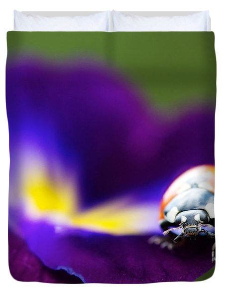 Up Close And Personal Duvet Cover by Lisa Knechtel