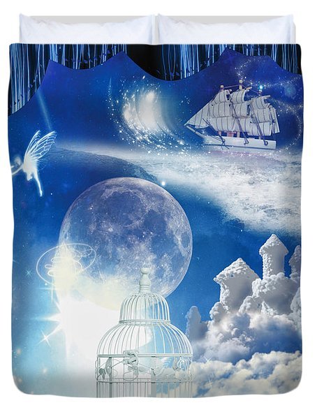 Up in the Air Duvet Cover by Mo T