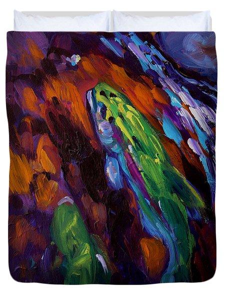 Up Stream Duvet Cover by Savlen Art