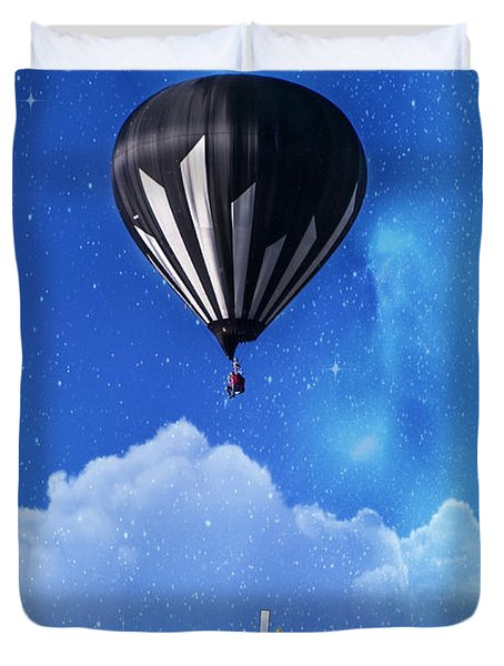 Up Through The Atmosphere Duvet Cover by Juli Scalzi