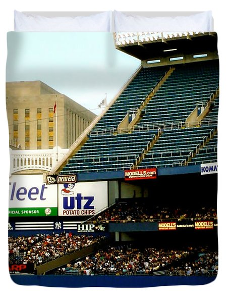Upper Deck  The Yankee Stadium Duvet Cover by Iconic Images Art Gallery David Pucciarelli