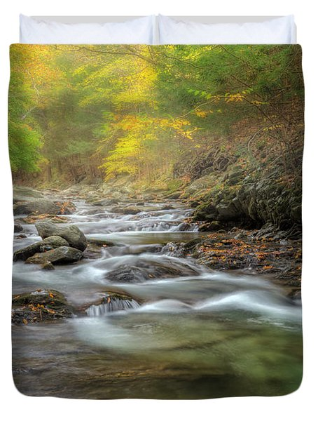 Upstream Fog Duvet Cover by Bill  Wakeley