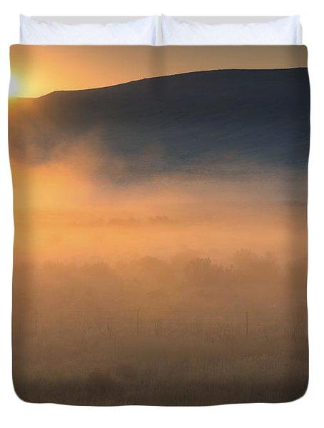 Uptanum Dawning Duvet Cover by Mike  Dawson