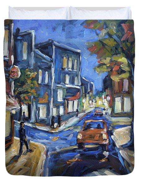 Urban Avenue By Prankearts Duvet Cover by Richard T Pranke