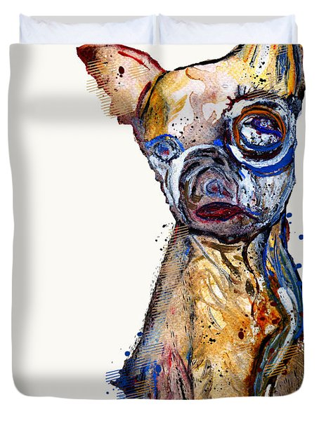 Urban Chihuahua Duvet Cover by Bri Buckley