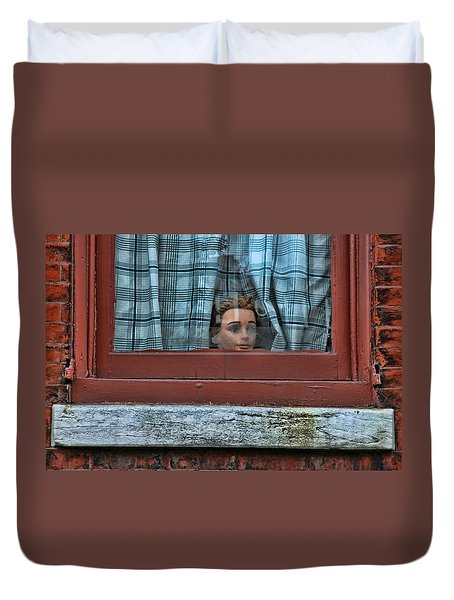 Urban Humor Duvet Cover by Allen Beatty