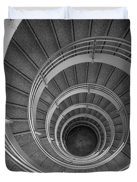 urban spiral - gray II Duvet Cover by Hannes Cmarits