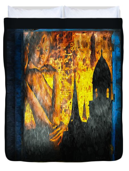 Urban Sunset Duvet Cover by Bob Orsillo