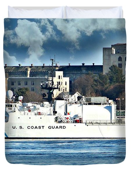 Us Coast Guard Duvet Cover by Barbara S Nickerson