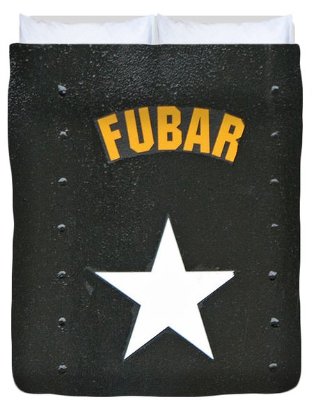 US Military Fubar Duvet Cover by Thomas Woolworth