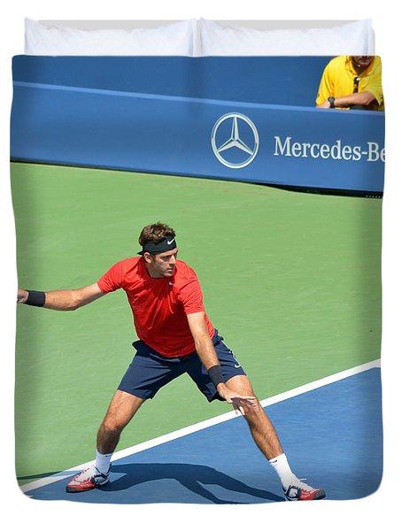 US Open Juan Martin del Potro Duvet Cover by Maria isabel Villamonte