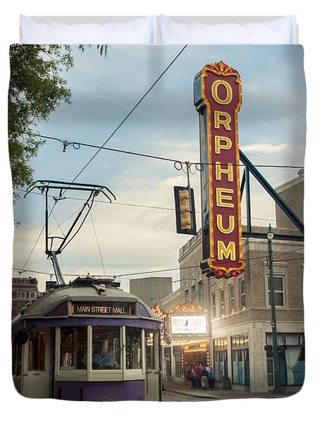 Usa, Tennessee, Vintage Streetcar Duvet Cover by Dosfotos