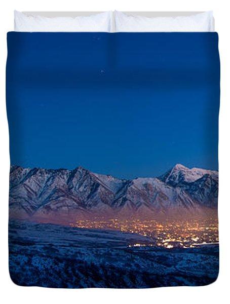 Utah Valley Duvet Cover by Chad Dutson