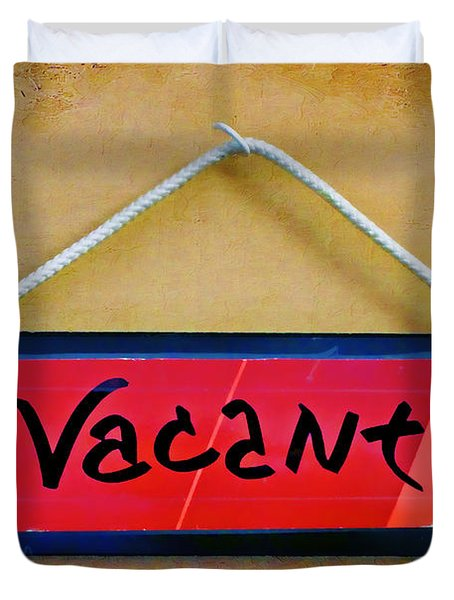Vacant Duvet Cover by Nikolyn McDonald