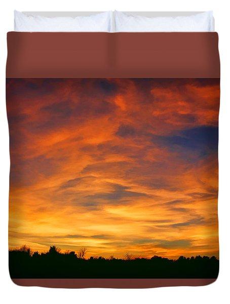Valentine Sunset Duvet Cover by Tammy Espino